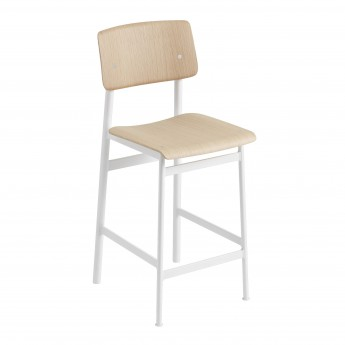 Chaise LOFT pieds blanc/chêne