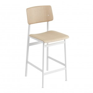 LOFT stool white/oak