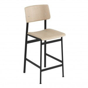 LOFT stool black/oak