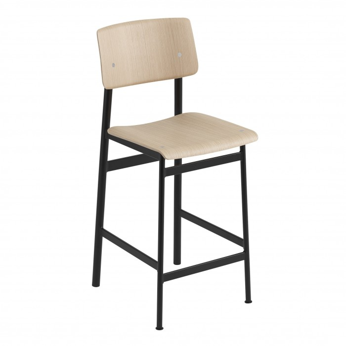 Chaise LOFT pieds noir/chêne