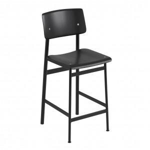 Tabouret LOFT pieds noir/assise noire