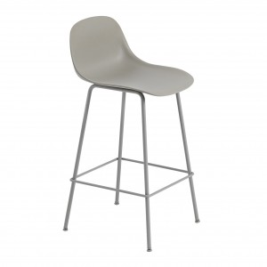 FIBER stool - tube base - grey