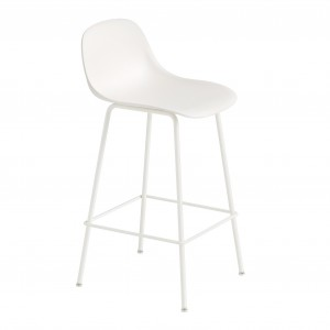 FIBER stool - tube base - white