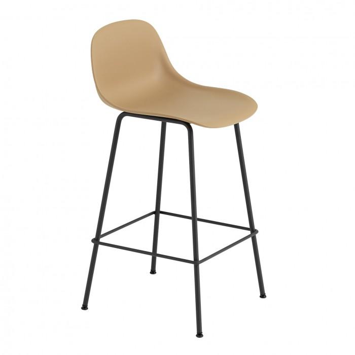 FIBER stool - tube base - ochre