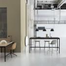 FIBER stool - tube base - black