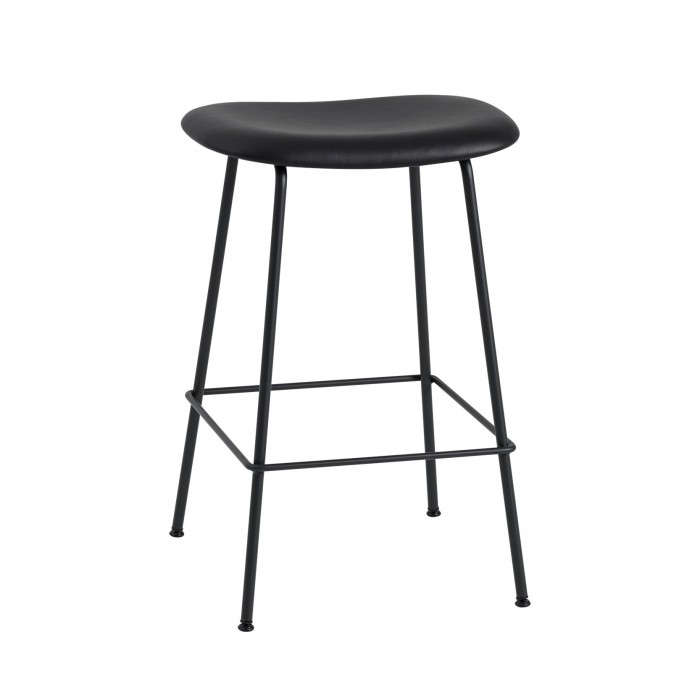 FIBER stool - tube base - black