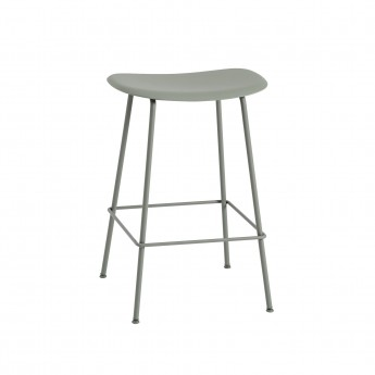 FIBER stool - tube base - green