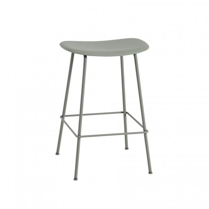 FIBER stool - tube base - green