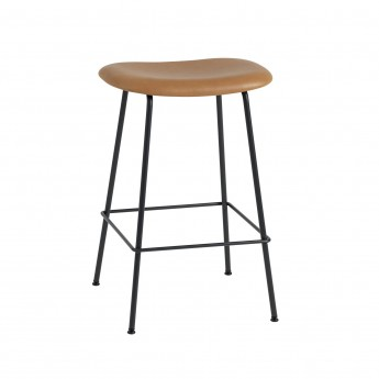 FIBER stool - tube base - cognac