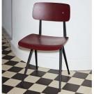 Chaise RESULT acier noir - chêne teinté Dark Brick