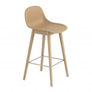 FIBER stool - wood base/ochre