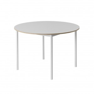 Table BASE ronde blanche