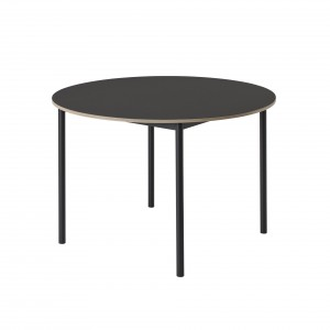 Table BASE ronde noire