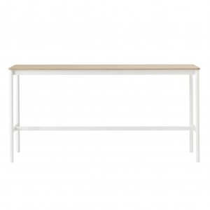 BASE HIGH table - white/oak S