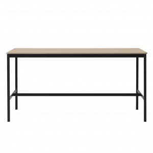 BASE HIGH table - black/oak M