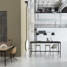 Table BASE HIGH noir/chêne