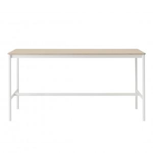BASE HIGH table - white/oak M
