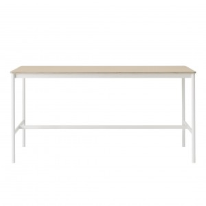 Table BASE HIGH blanc/chêne M