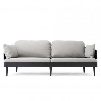 Canapé SEPTEMBRE gris clair - noir