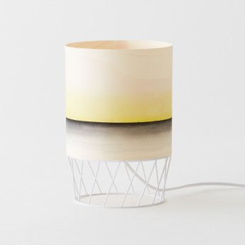 Lampe DOWOOD aquarelle S jaune