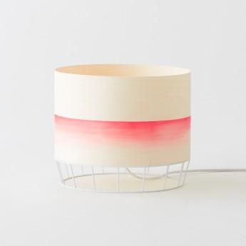 Lampe DOWOOD aquarelle M rouge