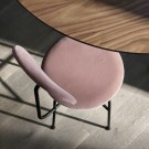 Chaise AFTEROOM plus velours rose