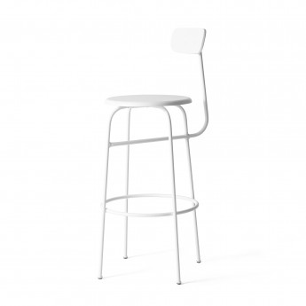 AFTEROOM stool bar high in white wood