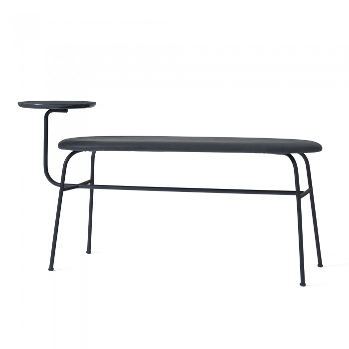 ANTEROOM bench in black leather