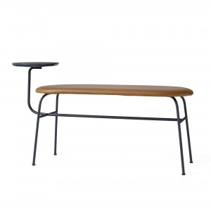 ANTEROOM bench in cognac leather