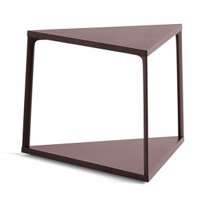 EIFFEL side table triangle - Dark Brick