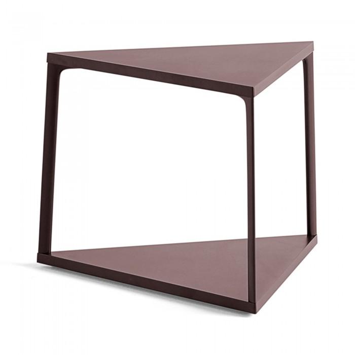 EIFFEL side table triangle - Dark Brick