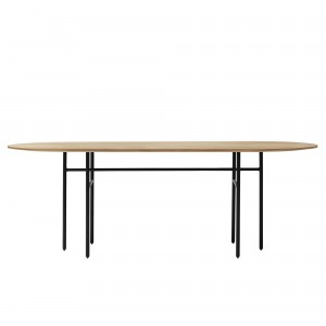 Table ovale SNAREGADE bois et noir