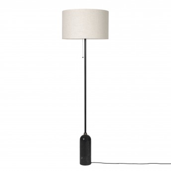GRAVITY Floor lamp black marble