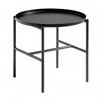 Table basse REBAR ronde - Noir