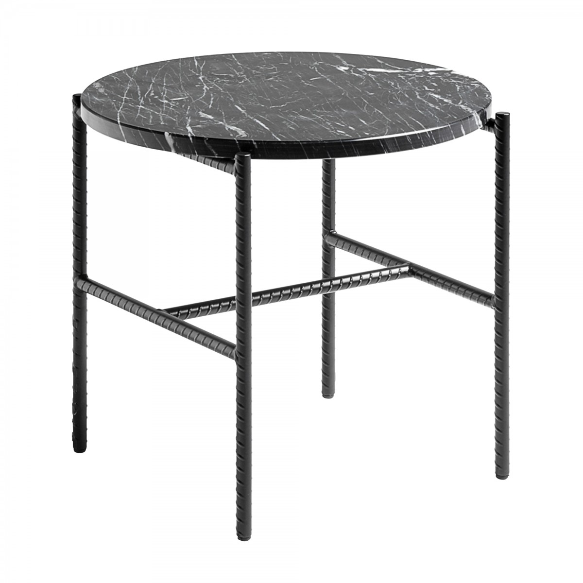 table basse rebar ronde marbre noir hay. Black Bedroom Furniture Sets. Home Design Ideas