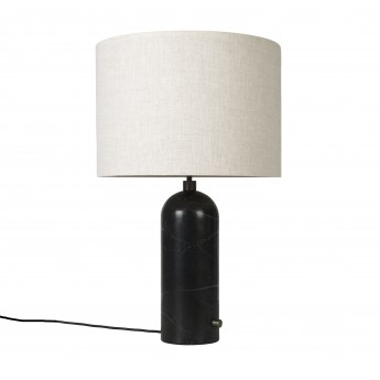 GRAVITY lamp black marble