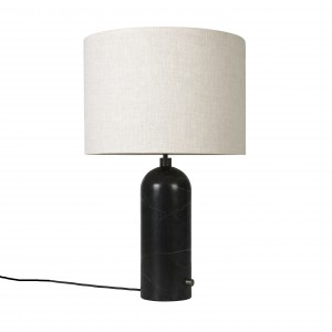 GRAVITY lamp black marble
