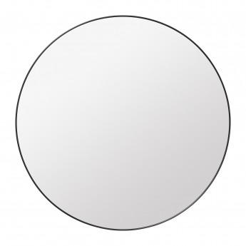 Round Wall Mirror Ø110cm black brass