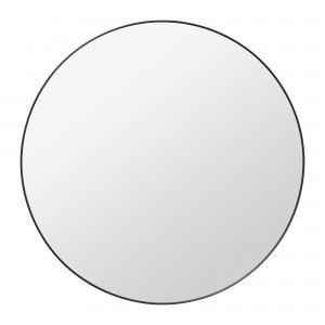 Round Wall Mirror Ø110cm black brass