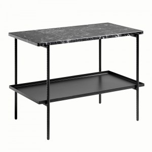 REBAR table rectangular - Black marble