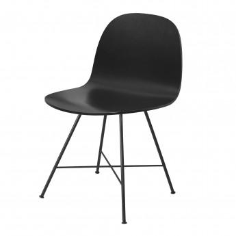 Chaise 2D noir/pieds centrés
