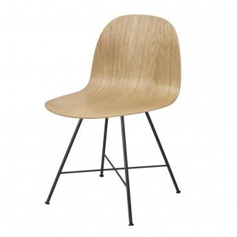 Chaise 2D chêne/pieds centrés