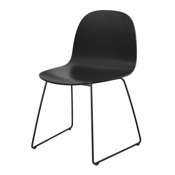Chaise 2D noir/pieds luge