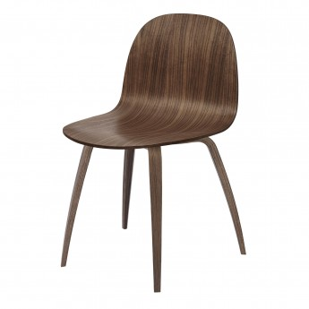 2D dining chair - walnut/walnut base