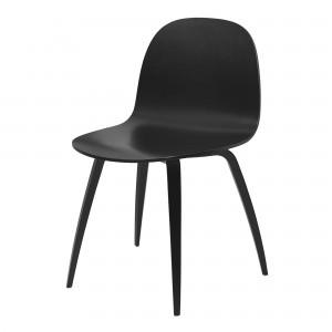 Chaise 2D noir/pieds noir