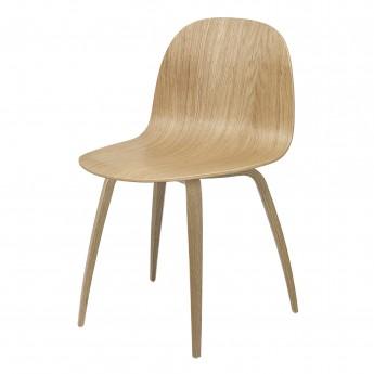 Chaise 2D chêne/pieds chêne