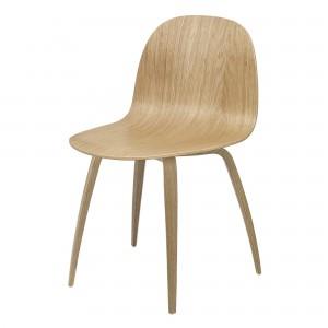 2D chair oak / oak legs