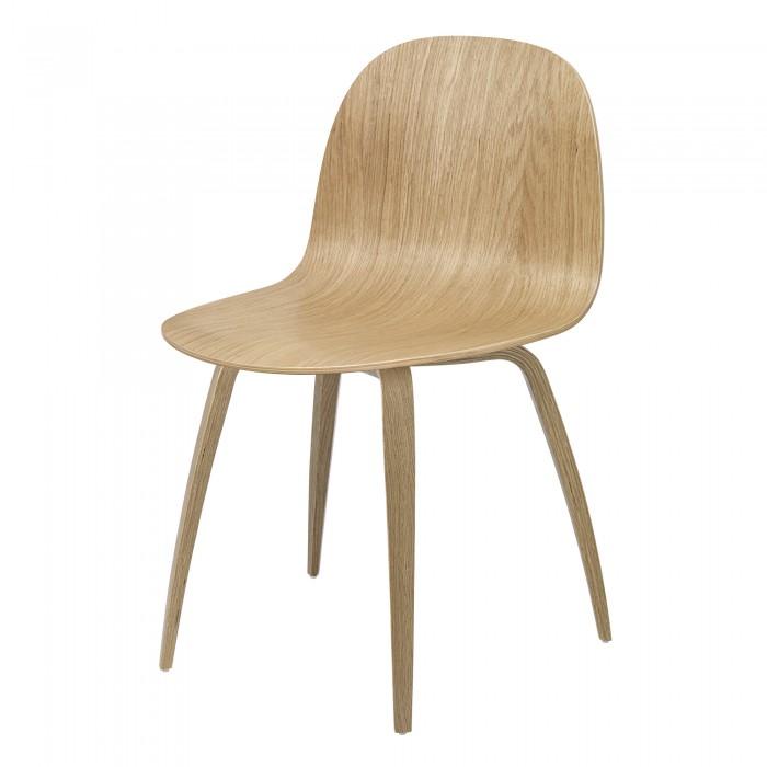 2D dining chair - oak/oak base