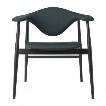 Chaise MASCULO tapissée/pieds bois noir