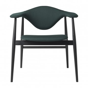 MASCULO upholstered chair / black wood frame